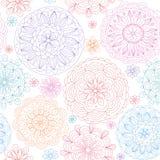 Seamless abstrakt blom- bakgrund Royaltyfri Foto