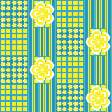 seamless abstrakt blom- modell Royaltyfri Fotografi
