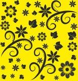 seamless abstrakt blom- modell Royaltyfria Foton