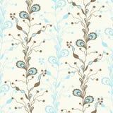 seamless abstrakt blom- modell Klottra stil Textilmodedesign Royaltyfri Foto