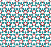 seamless abstrakt blom- modell modern stil f?r symmetri stock illustrationer