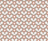 seamless abstrakt blom- modell modern stil f?r symmetri royaltyfri illustrationer