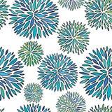 seamless abstrakt blom- modell Prydnad för handteckningsvektor royaltyfri illustrationer
