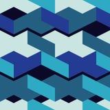 seamless abstrakt geometrisk modell kuber 3d bakgrund är kan använd mosaiktextur royaltyfri illustrationer
