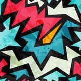 Seamless abstrakt grafitti texturerar med grunge verkställer Arkivbild