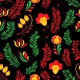 Seamless abstrakt Hand-Drawn blom- modell Arkivfoton