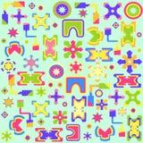 Seamless abstrakt ljus geometrisk bakgrund Stock Illustrationer