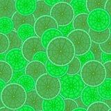 seamless abstrakt modell Bilden av limefrukt i snittet Royaltyfri Bild