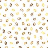 seamless abstrakt modell Gula och bruna fläckar för guld, Arkivbilder