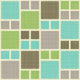 Seamless abstrakt retro kvadrerar bakgrund Royaltyfri Illustrationer