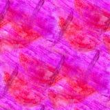 Seamless abstrakt rosa purpurfärgad vattenfärgdesign Arkivbild