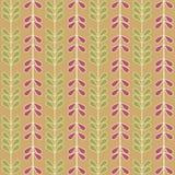Seamless abstrakt Vines & lämnar Arkivfoto