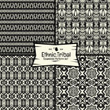 Seamless abtract vector doodle tribal, Ethnic pattern collection Stock Image