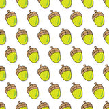 Seamless acorn pattern Stock Photo
