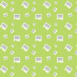 Seamless Advertisement Paper Sheet Green Pattern. Background Royalty Free Stock Photography