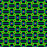 Bright Green Ethnic Pattern. Seamless african ethnic tribal pattern Royalty Free Stock Photo