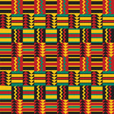 Seamless African Pattern. Inspired by traditional African fabric designs Stock Photography