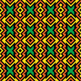 Seamless African Pattern Stock Image