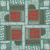 Seamless African pattern. Ethnic pattern on the carpet. Royalty Free Stock Photos