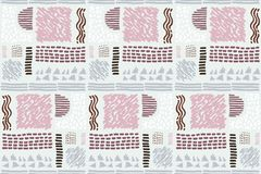 Seamless African pattern. Ethnic pattern on the carpet. Royalty Free Stock Photography