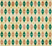 Seamless aged diamond pattern Stock Image