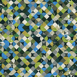 Seamless aged mosaic background in green and blue colors. Royalty Free Stock Images