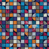 Seamless aged mosaic background, vintage seamless pattern with g Royalty Free Stock Photo