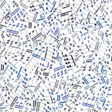 Seamless aged musical notes background. Royalty Free Stock Photo