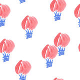 Seamless air balloon's pattern Stock Photo