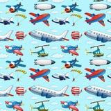 Seamless aircrafts Stock Photos