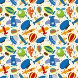 Seamless airplane pattern stock illustration
