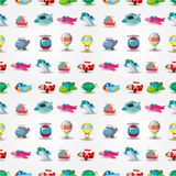 Seamless airplane pattern. Illustration Royalty Free Stock Photography