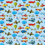Seamless airplane pattern Royalty Free Stock Photography