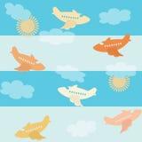 Seamless airplane pattern Stock Photos
