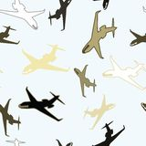 Seamless airplane wallpaper Stock Images