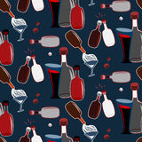 Seamless alco party time vector pattern vector illustration