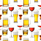 Seamless alcohol beverages Royalty Free Stock Photo