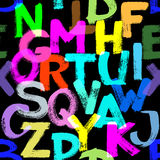 seamless alfabet Arkivfoton