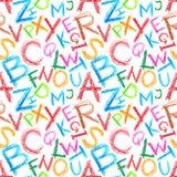seamless alfabetcrayon Arkivbilder