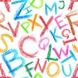 seamless alfabetcrayon Royaltyfri Foto