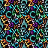 seamless alfabetcrayon Royaltyfri Fotografi