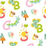 seamless alfabetmodell Royaltyfria Bilder