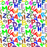 Seamless alphabet. Seamless pattern - Colorful alphabet over white background Royalty Free Stock Image