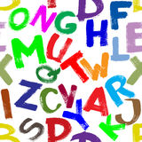 Seamless alphabet Stock Image