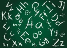 Seamless Alphabet Background Stock Photo