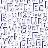 Seamless Alphabet Background. Seamless Alphabet Pattern on White Royalty Free Stock Image