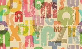 Seamless alphabet background Royalty Free Stock Photography