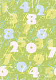 Seamless alphabet & number pattern Stock Photography