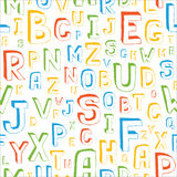 Seamless Alphabet Pattern. On White Stock Photos