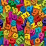 Seamless Alphabet Pattern Royalty Free Stock Photo